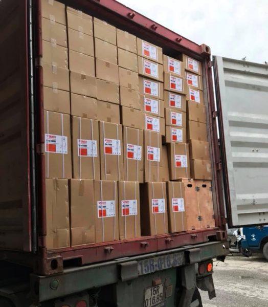 Lô hàng bơm chìm nước thải Veratti mới được công ty bơm ĐL nhập khẩu về
